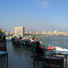 WINDSOR HOTEL, Alexandria, top floor terrace, where we had our breakfasts, and evening happy hour. A gorgeous view of the bay.