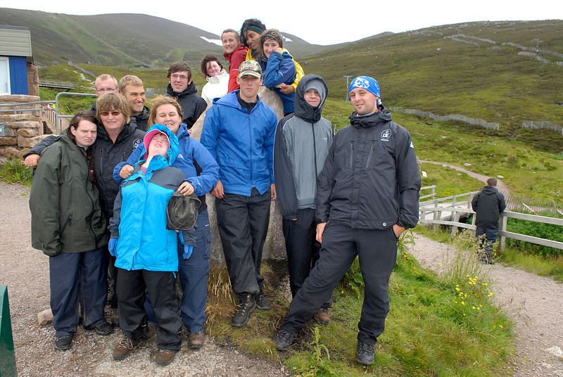 A walking expedition with both able bodied and special needs young people in the Spey valley, Scotland for the DofE, 15th July 2010