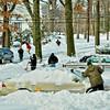Community shoveling.