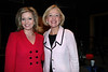 Melissa Ross, with PBS President Paula Kerger, who appeared on the program on April 28, 2010.
