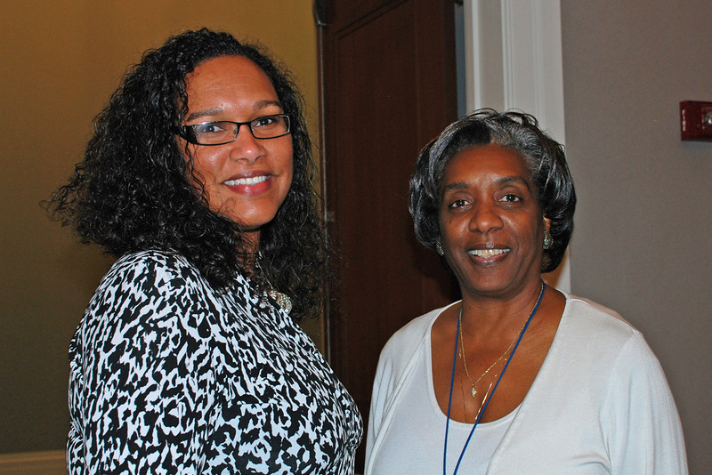 The Library's Lisa Buggs, Community Education and Enrichment Program Supervisor, and Carolyn Williams, Deputy Director.