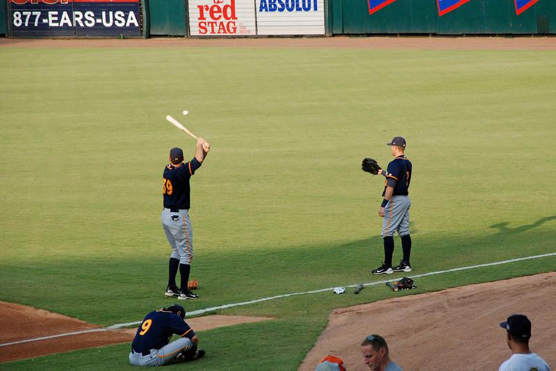 Pre-game batting practice