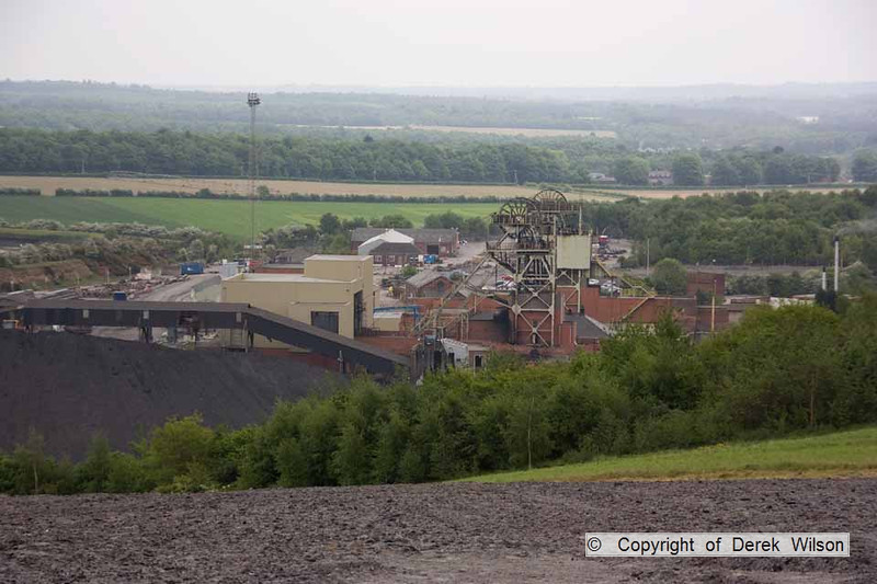 100525-014     A view of Welbeck colliery, taken from up the spoil heaps.