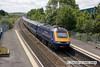 100706-027     A First Great Western HST, powered by 43198 (front) & 43193 (rear) is seen from the footbridge at Patchway, with the 10.15 London Paddington - Cardiff Central.