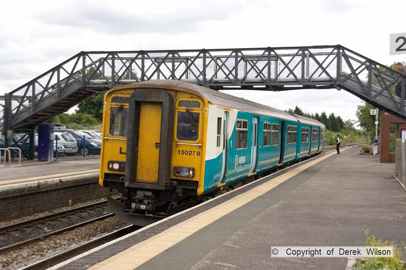 100706-048     Arriva Trains Wales class 150 unit no. 150278, on hire to First Great Western is seen at Patchway with the 12.07 Taunton - Cardiff Central.