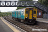 100706-016     Arriva Trains Wales class 150 unit no. 150281, which was on loan to First Great Western, calls at Patchway with the 09.45 Western Supermare - Cardiff -Central.
