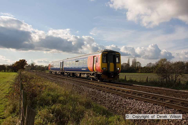 101106-013     East Midlands Trains class 156 no. 156414 passing Rolleston with the 12.25 Leicester-Lincoln Central.
