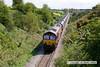 100511-005     DB Schenker class 66/0 no 66070 is seen from Cherry Grove bridge on the colliery branch, powering train 4K48 Ferrybridge power station-Welbeck colliery, empty coal hoppers.