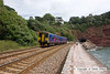 100704-010     FGW class 150 unit no 150265 speeds along the sea wall at Teignmouth with the 11.00 Paignton-Exeter St Davids.