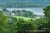 Looking down on the 18th fairway at the 3 Irish Open in Killarney. Sun 01.08.10