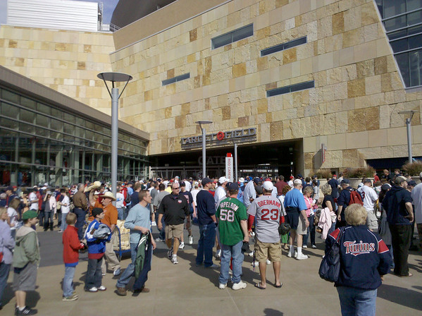 Outside gate 29 before the game