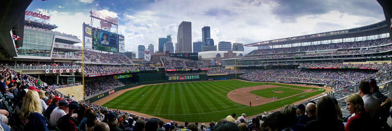 Panorama of the view from our seats.