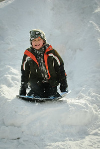 Some fun in the snow outside the house