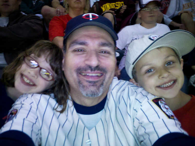 With the kids at the Twins game