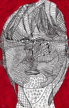 Gina's 3rd grade self-portrait