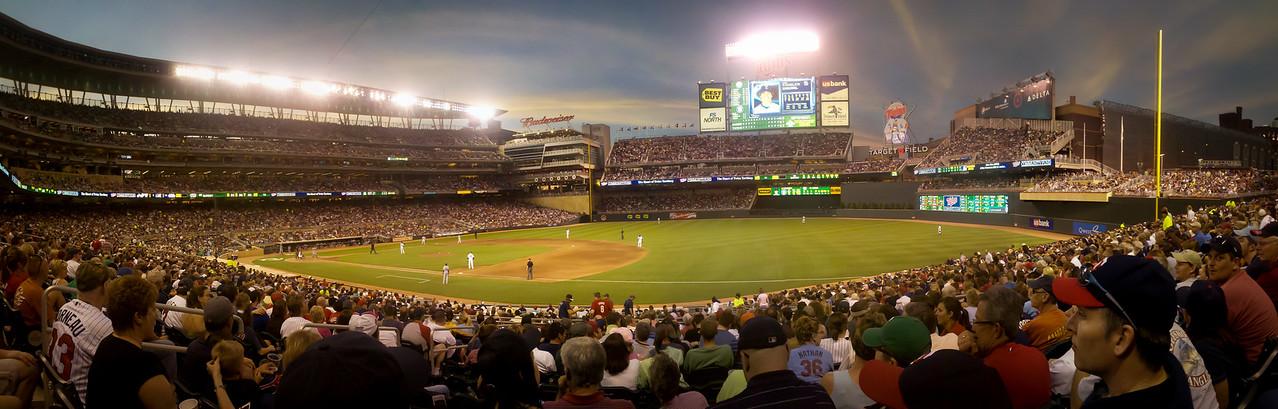 Twins vs. Rangers at Target Field. May 28, 2010.
