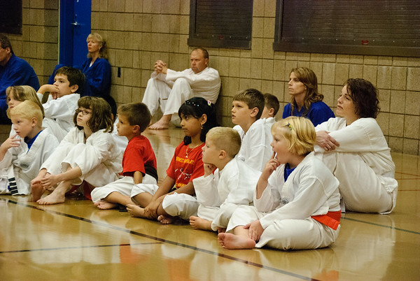 At the Tae Kwon Do promotion ceremony