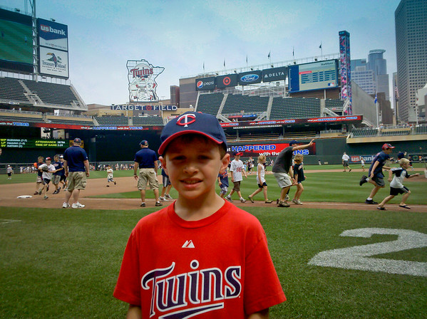 After running the bases at Target Field.