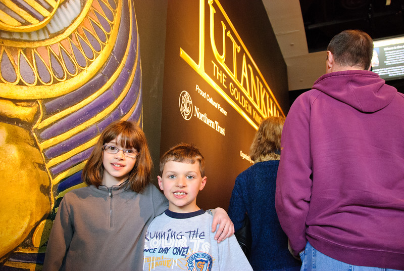 Waiting in line to see the King Tut exhibit.