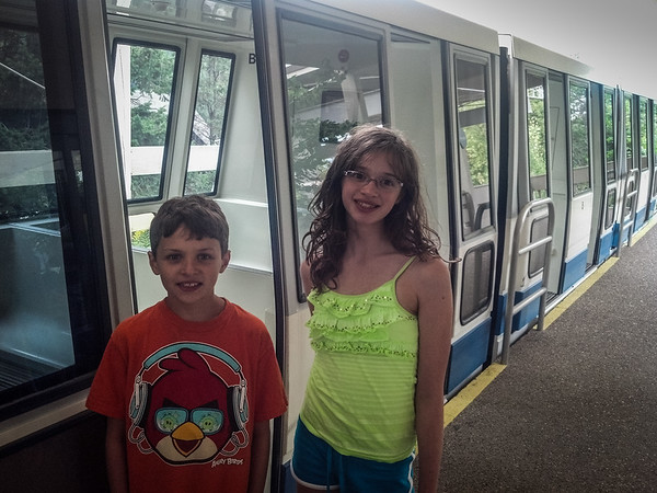 Last ride on the Zoo monorail