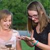 Lisa & Kim catching a Lightning bug