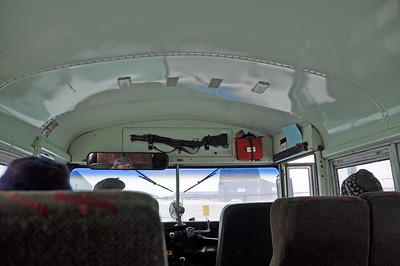 rifle in school bus