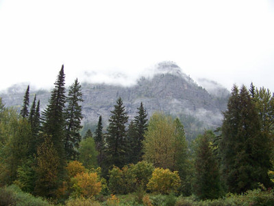 view from near McDonald Falls, Glacier National Park, Montana