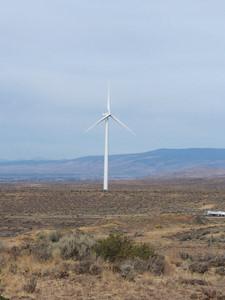 wind turbine, Wild Horse Wind Farm, along I-90, Washington