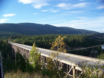 bridge over the Moyie River Canyon, Idaho