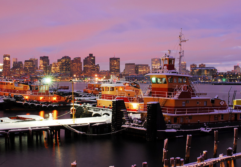 East Boston Tugs at Sunset.