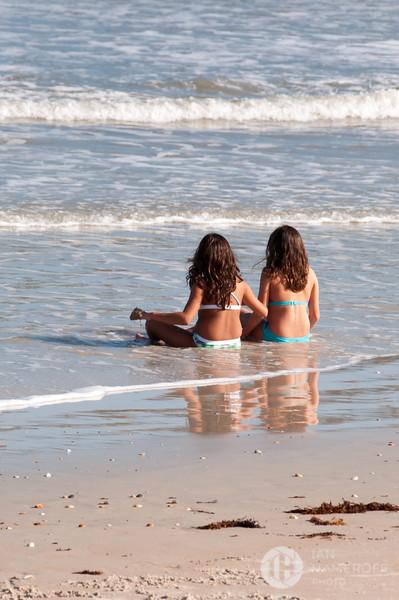 Twin Sunbathers