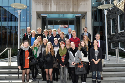 Ordrup Gymnasium school Danish delegates visit