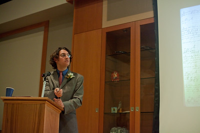 Dr. Devin Naar speaks at the UW Hillel. Sponsored by the Stroum Jewish Studies Program, The Henry M. Jackson School of International Studies and the Department of History and Hellenic Studies. Photography by Meryl Schenker Photography.