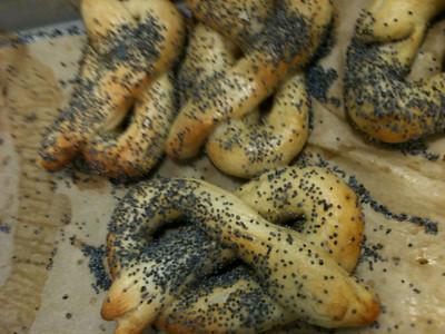 Handmade-from-scratch pretzels (c)2011 A. Rayl