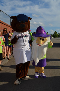 NHICC the gNHome meets with Fungo of the NH Fishercats before welcoming the 2012 Team New Hampshire representatives to Northeast Delta Dental Stadium.