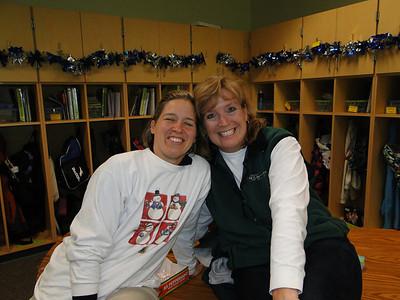 "Ms. Trummert and Ms. Burdick enjoy having their 3rd grade and kindergarten students as ""buddies"""