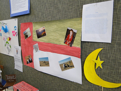 Upon their return from a class trip to Williamsburg and Washington D.C., students were asked to create a monument or memorial to the subject of their choosing.