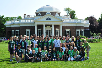 5th Grade in front of Thomas Jefferson's Monticello. Visit https://picasaweb.google.com/102483432221696909814/5thGradeTrip2012 for more images (562!).