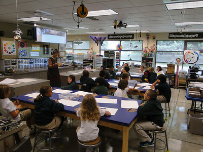 """Miz Candy begins art instruction with a lesson in using our """"art eyes."""""""