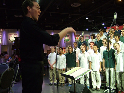 Singing at the Festival of Trees