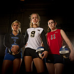 August/27/11:  Scrimmageplay volleyball shoot.  Chandler Gentry, Madison County High School.  Charlotte Devine, Monticello High School.  Jessica Block, Albemarle High School.