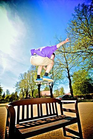 Skateboard på Vesterlund