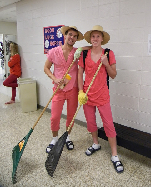 J-D Bohlke and N Sullivan twin day