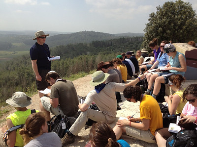 On top of Azekah overlooking the valley where David fought Goliath.