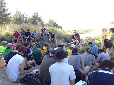 At Lachish learning about how we need to depend on God for our strength.