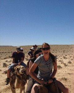 Camel ride in the desert! What a great surprise.