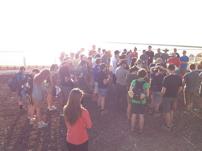 Dead sea: morning Devo before heading into the desert to see where Israel wandered for 40 years.