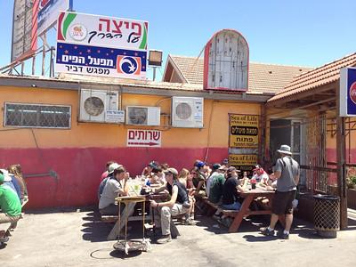 Falafel lunch at a high quality establishment!