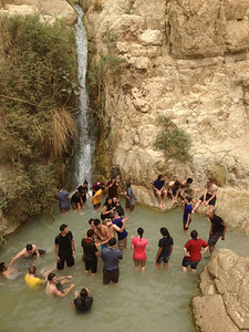 Ein Gedi. Learning about living water. (and enjoying a refreshing swim after the Masada hike)