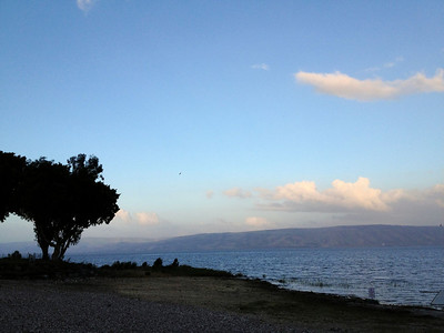 Galilee: view of the sea from where we are staying.